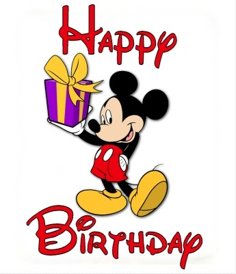 345x401 Birthday Clipart Mickey Mouse