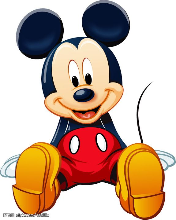 575x720 3d Clipart Mickey Mouse
