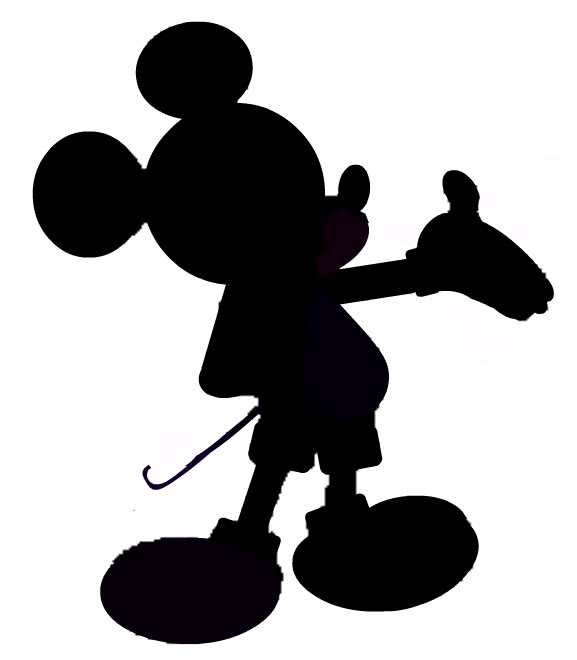 577x660 Mickey Mouse Silhouette Clip Art