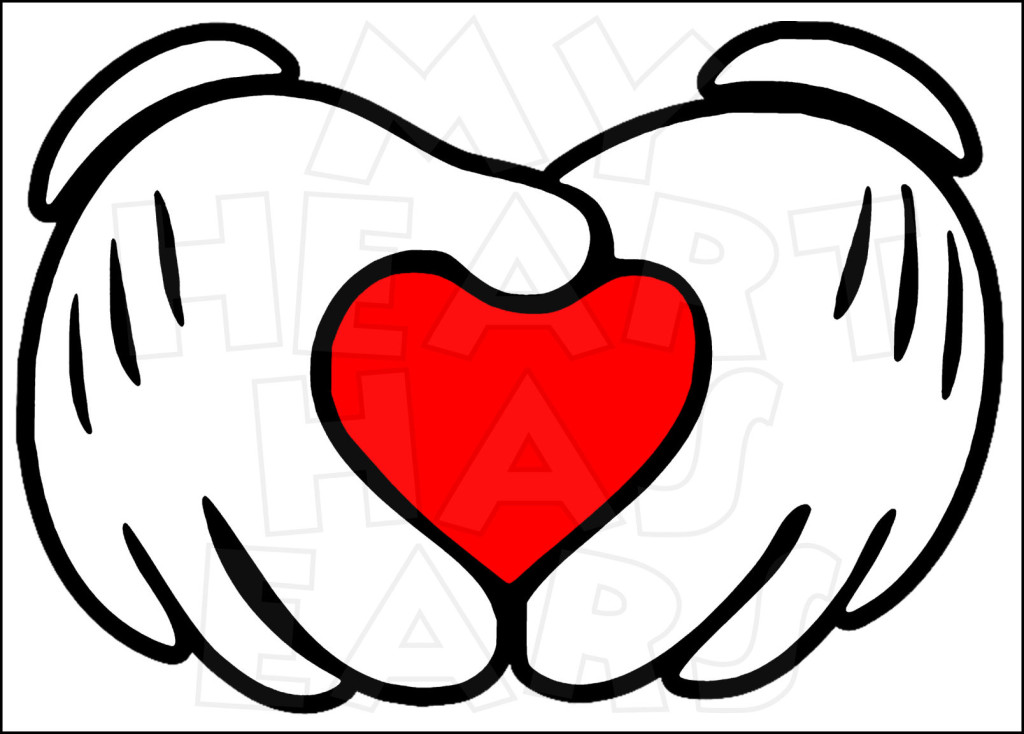 1024x734 Mickey Mouse Heart Hands Instant Download Digital Clip Art Diy