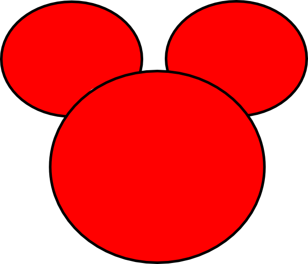 600x515 Mickey Ears Clip Art