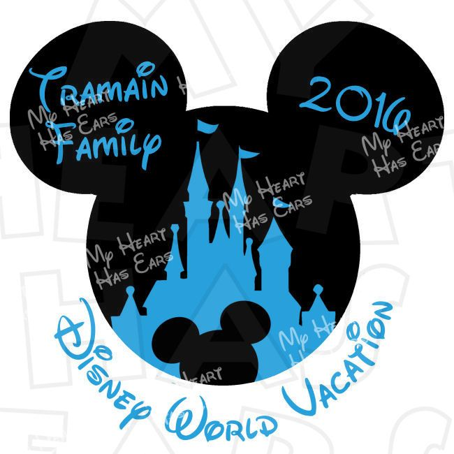 650x650 Mickey Mouse Castle With Personalized Family Name Disney World