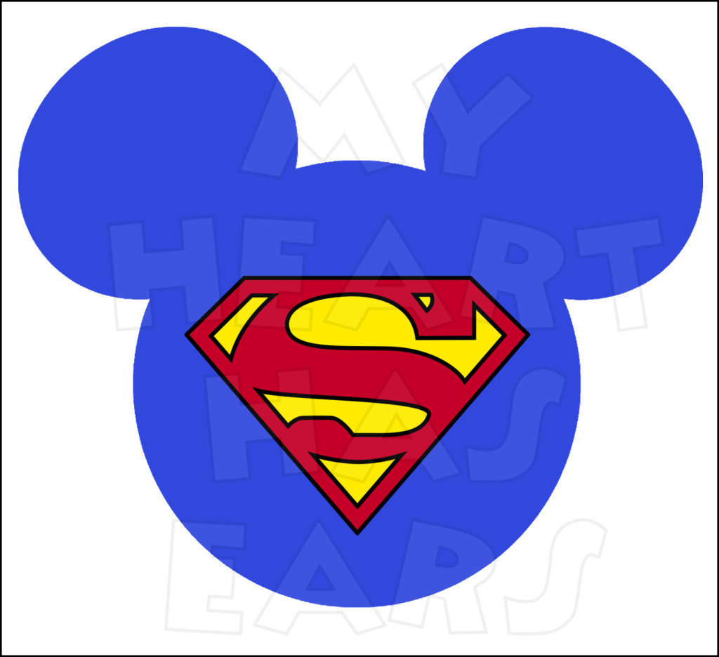 1024x936 Mickey Mouse Dressed As Super Man Instant Download Digital Clip