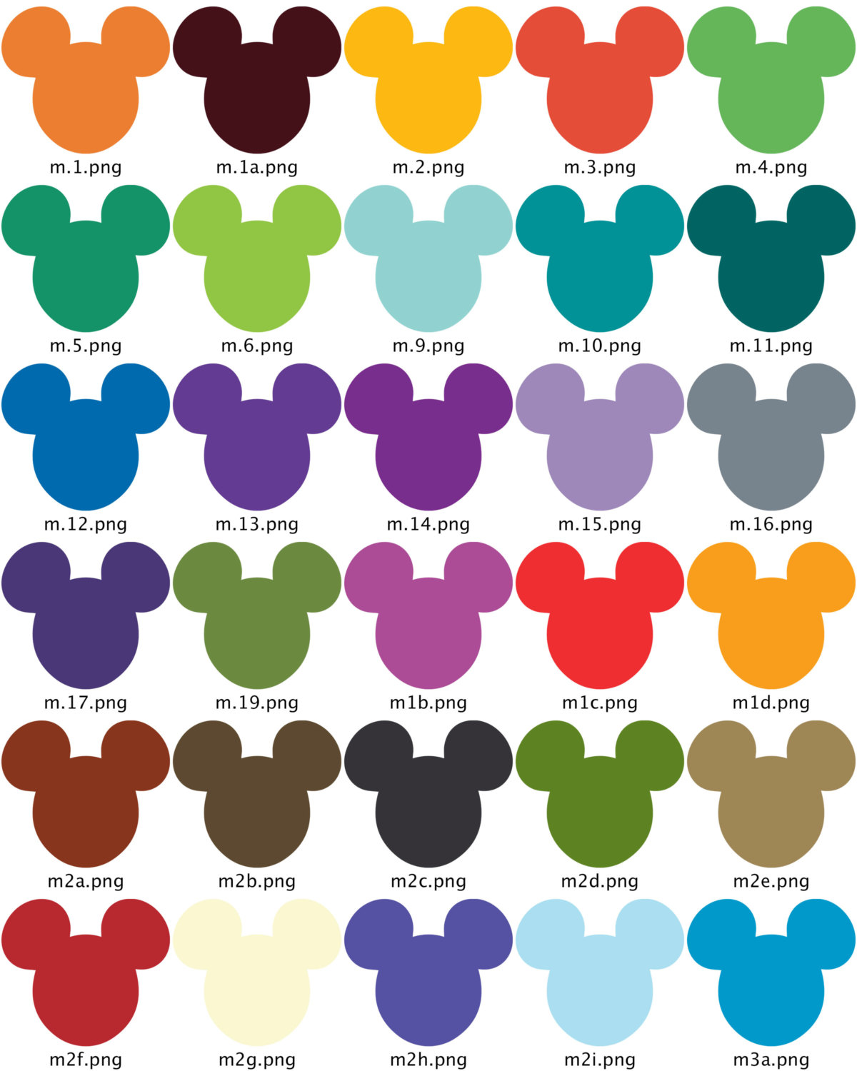1200x1500 Clip Art Scrapbook Labels Mickey Mouse Ears, Digital Cut Outs