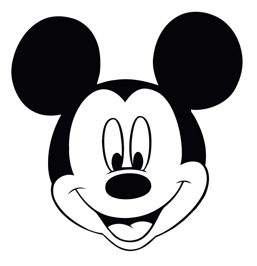 850x879 Free Mickey Mouse Face Clipart Image