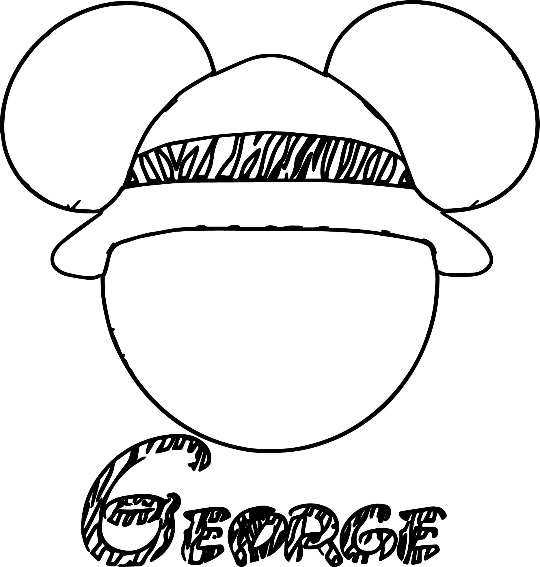 1870x1966 George Draw Mickey Mouse Face Coloring Page Wecoloringpage