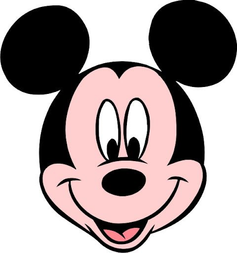 480x512 Mickey Mouse Face Clipart