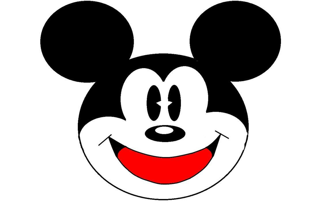 1121x713 Sketch Of The Mickey Mouse Face Mickey Mouse Black And White Face