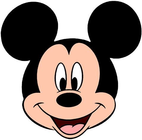 478x471 Mickey Mouse Face Clipart