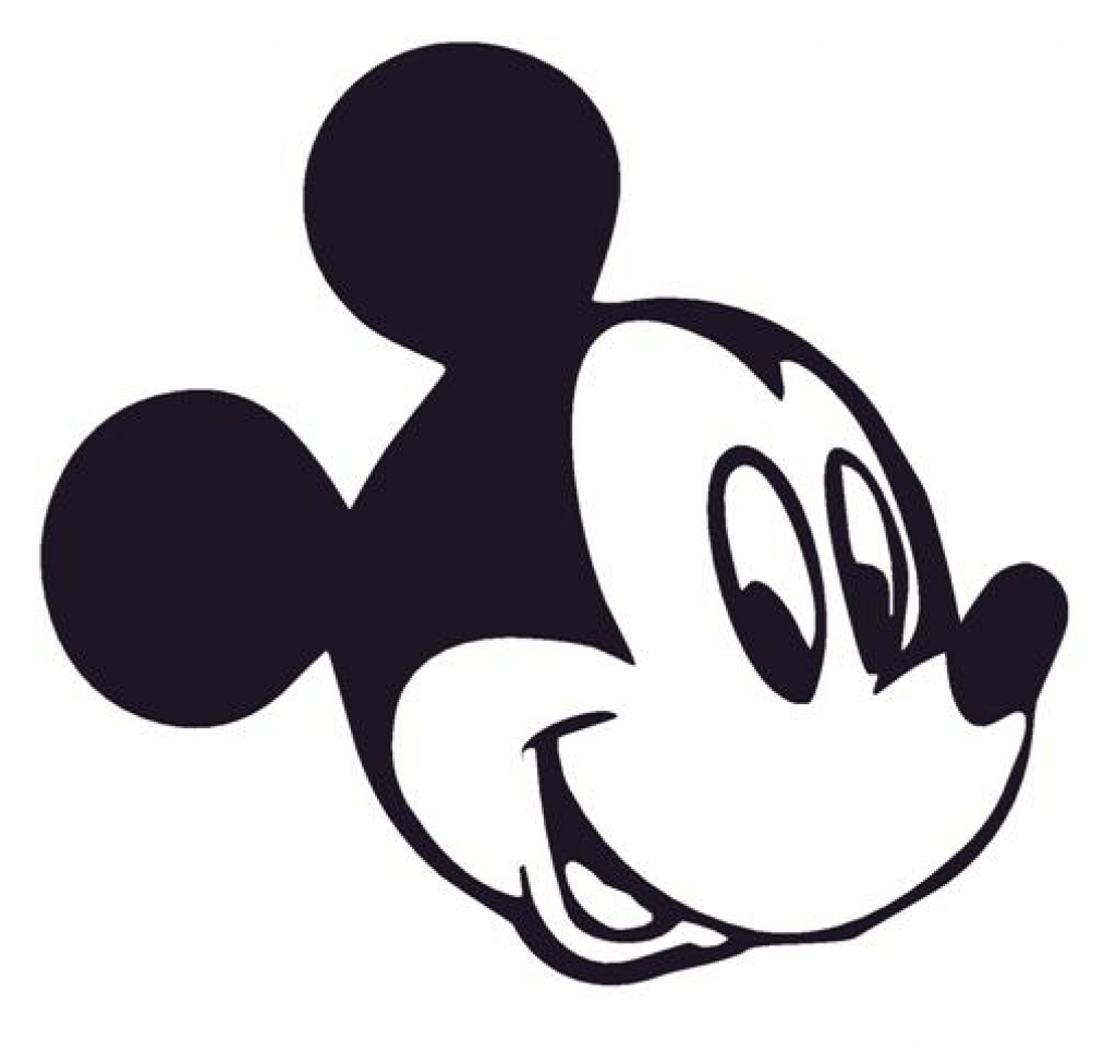 1024x966 Mickey Mouse Head Coloring Pages Murderthestout