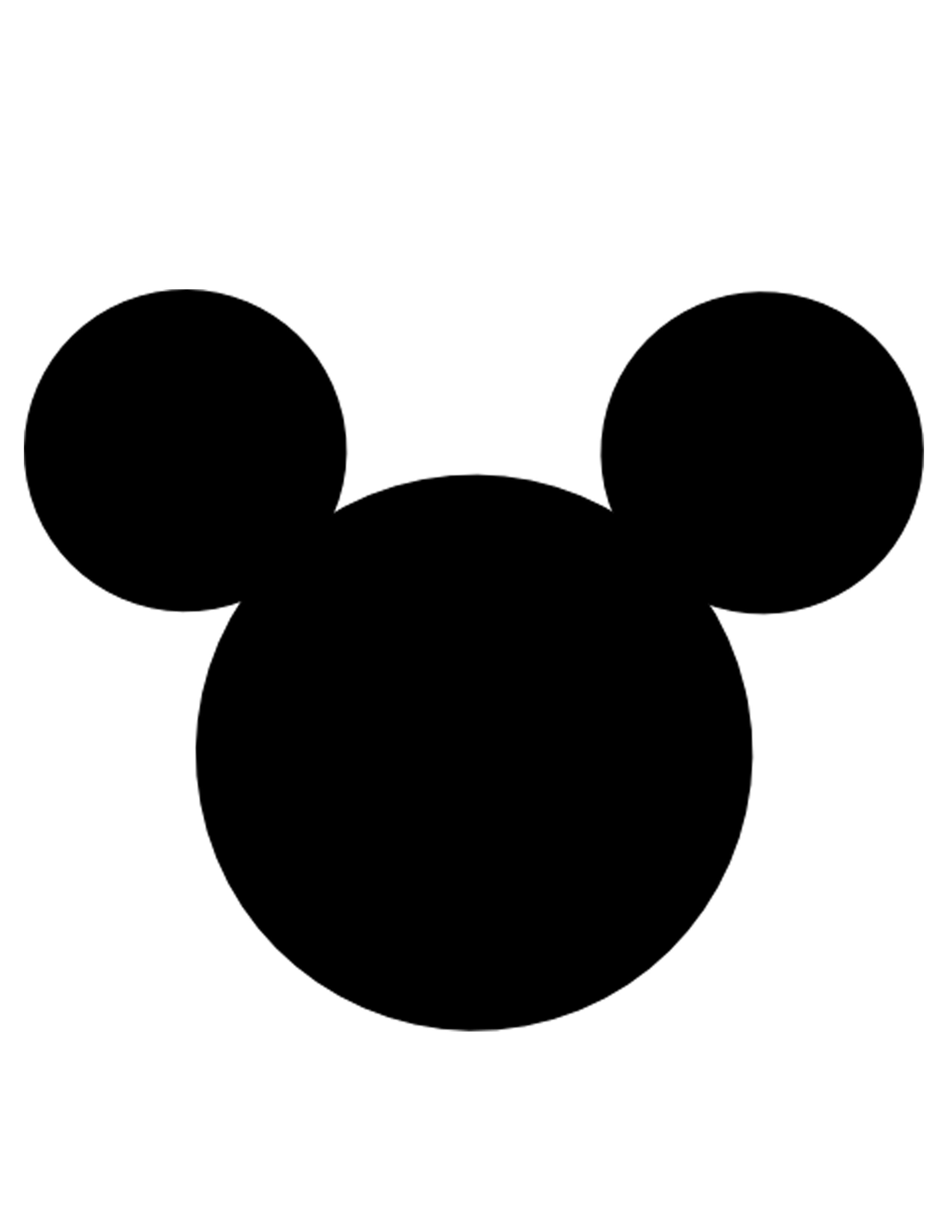 2550x3300 Black Mickey Mouse Head Clip Art