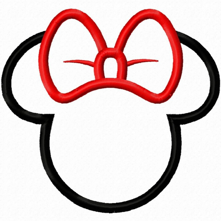 940x940 Mickey Mouse Bow Clipart