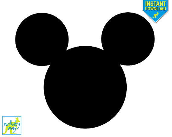 570x456 Mickey Mouse Head Printable Iron On Transfer Or Use As Clip Art