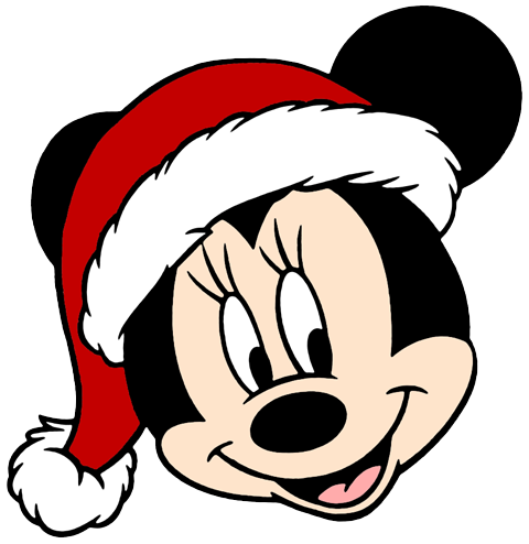 480x494 Mickey Mouse Head In Christmas Clipart