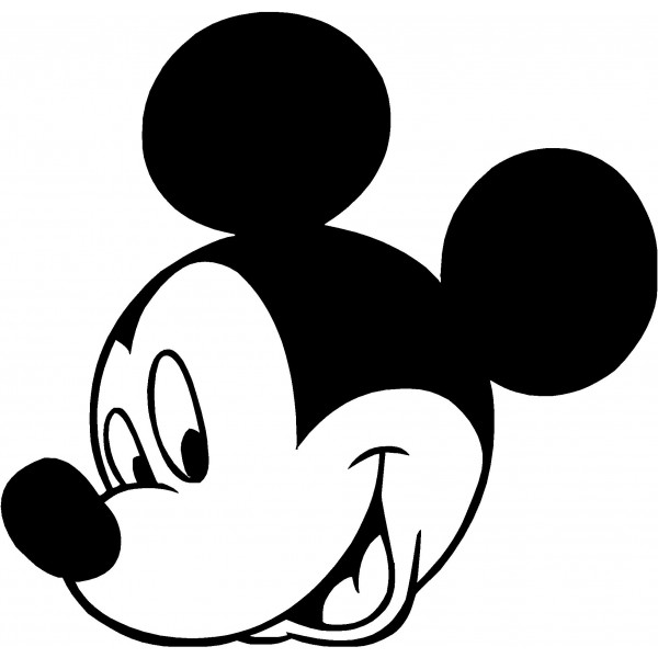600x600 Back Pics For Mickey Mouse Clip Art Black And White Clipart Kid