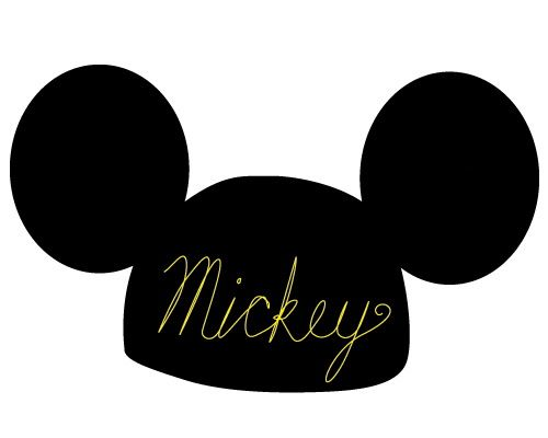 500x400 Black Mickey Mouse Ears Clip Art, Free Black Mickey Mouse Ears