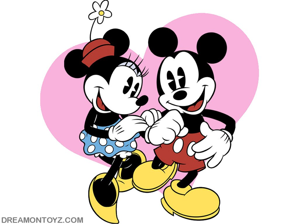 1024x768 In Love Mickey Mouse Clipart