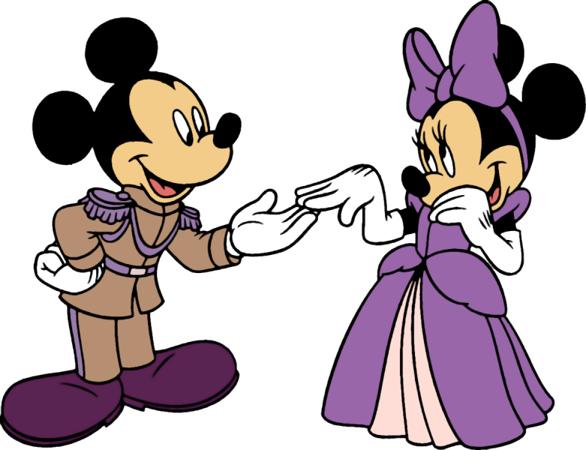 586x450 Purple Mickey And Minnie Mouse Minnie Mouse Silhouette Clip Art