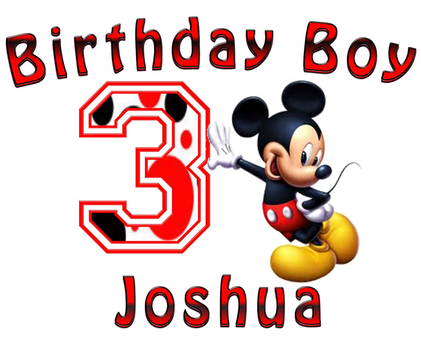 Mickey Mouse Birthday Boy T Shirt