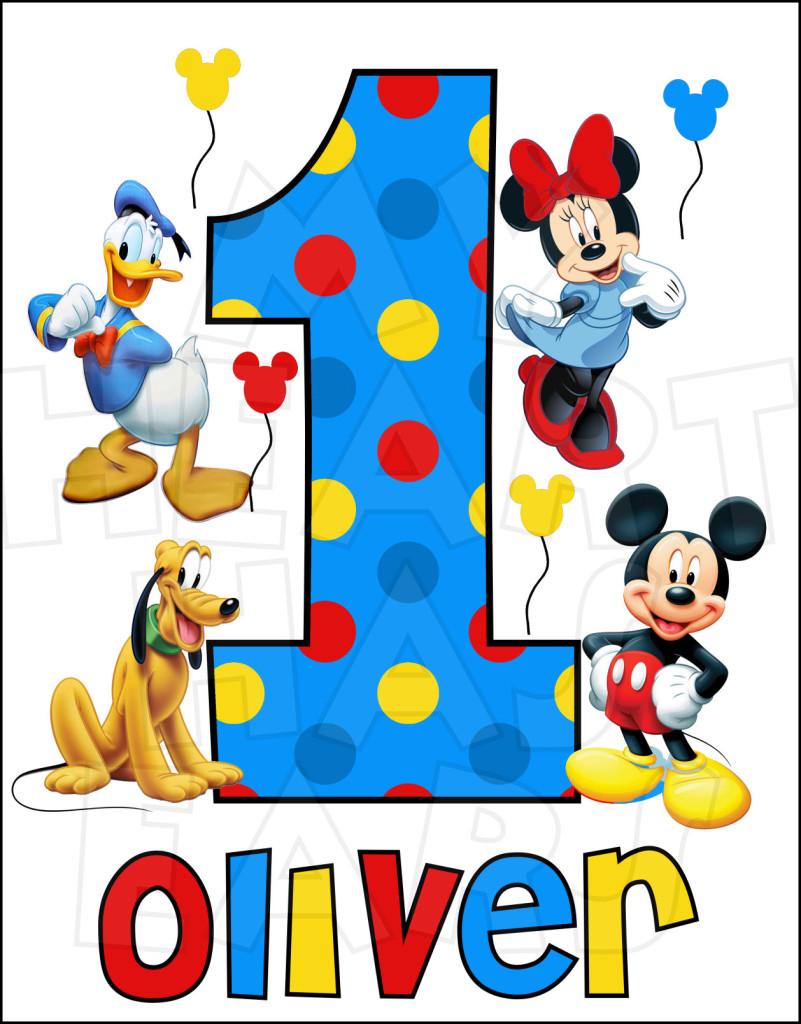 801x1024 Disney Mickey Mouse The Gang Birthday Image Custom Name