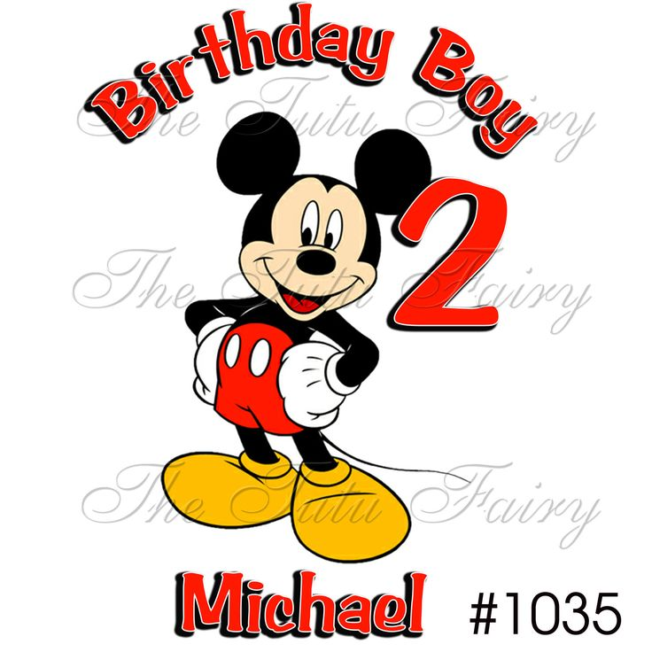 Mickey Mouse Birthday Pic