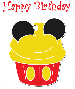 308x368 Mickey Mouse Birthday Borders Clipart