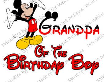 340x270 Mickey Mouse Birthday Boy Image Printable Clip Art Iron On Disney
