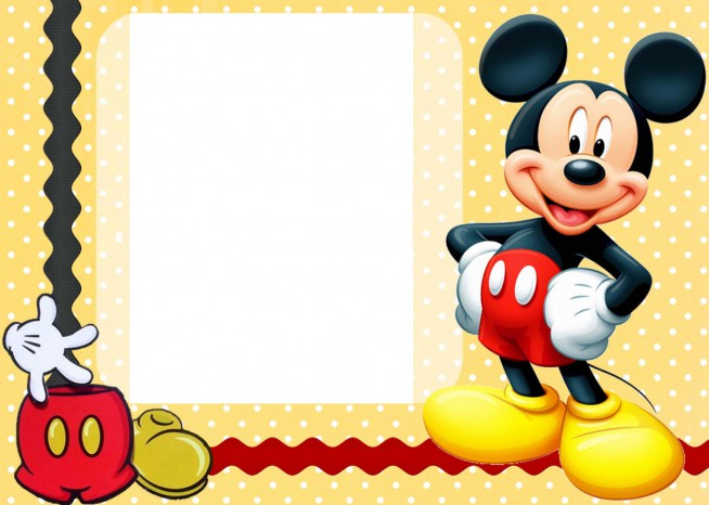 654x466 Mickey Mouse Birthday Cards Mickey Mouse Birthday Invitations