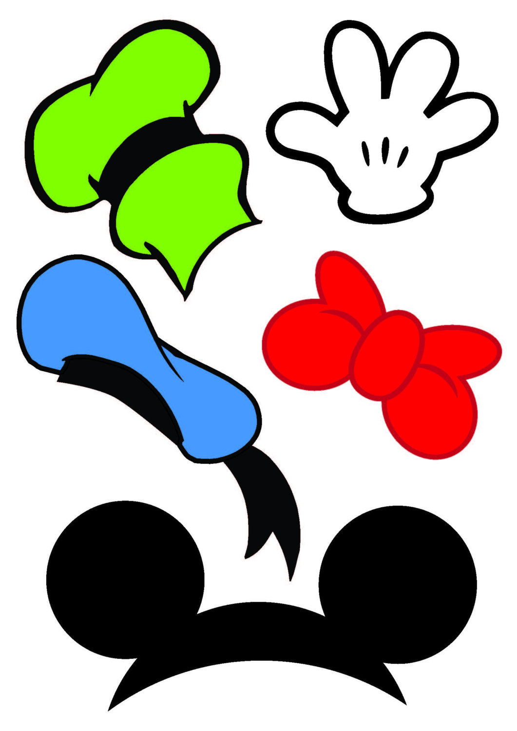 graphic relating to Minnie Mouse Photo Booth Props Printable called Variety of Picture booth clipart No cost obtain great Picture
