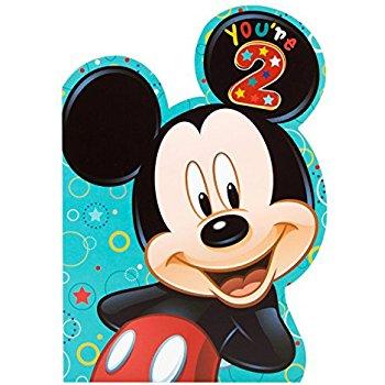 350x350 Hallmark 2nd Birthday Greeting Card (Mickey Mouse