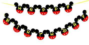 355x182 Mickey Mouse Birthday Banner Mickey Mouse Birthday