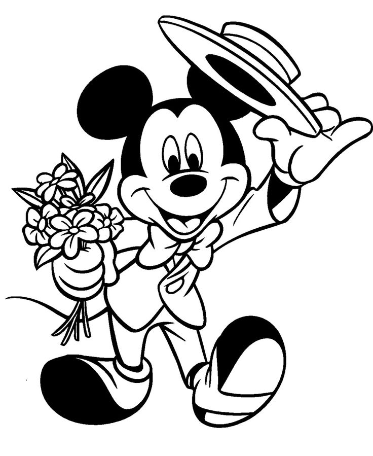 736x899 209 Best Mickey's Coloring Pages Images Coloring
