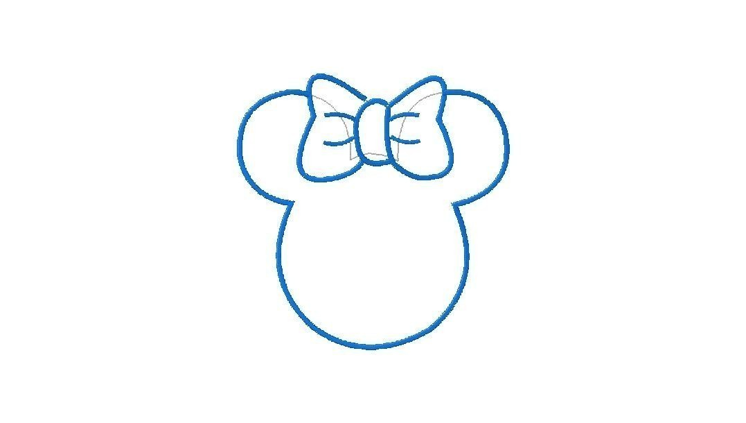 1077x610 Mickey Mouse Face Template