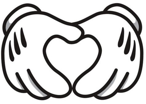 475x339 Mickey Mouse Hand Clipart Black And White