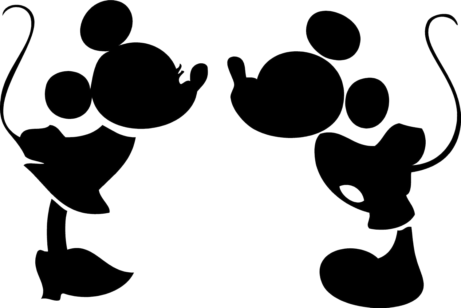Mickey Mouse Black And White Clipart Free Download Best