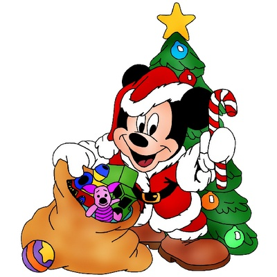 400x400 Baby Christmas Clipart Christmas Mickey Mouse Cartoon Image