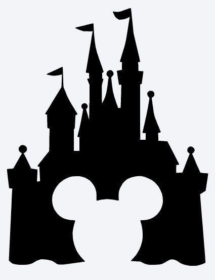 425x553 Disneyland Clipart Black And White