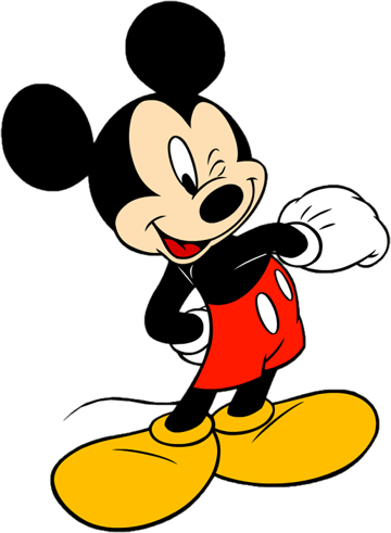360x491 Mickey Mouse Clip Art Free Black And White Clipart 2