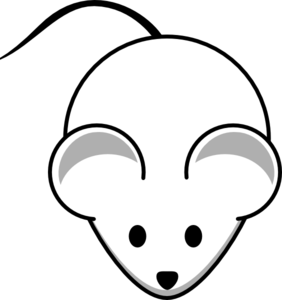 282x300 White Clipart Mouse
