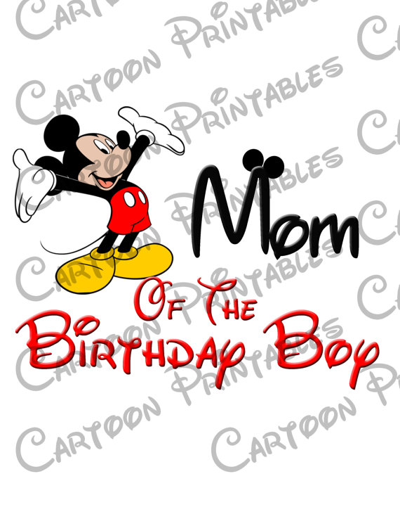 570x738 Mickey Mouse Mom of The Birthday Boy IMAGE Printable Clip Art Iron