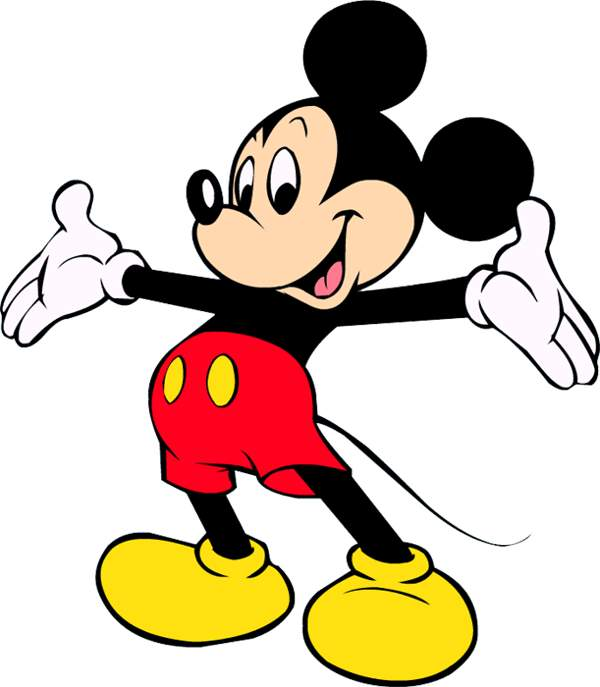 600x687 Mickey mouse motorcycle graphic clipart