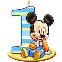 200x200 mickey mouse 1st birthday clipart