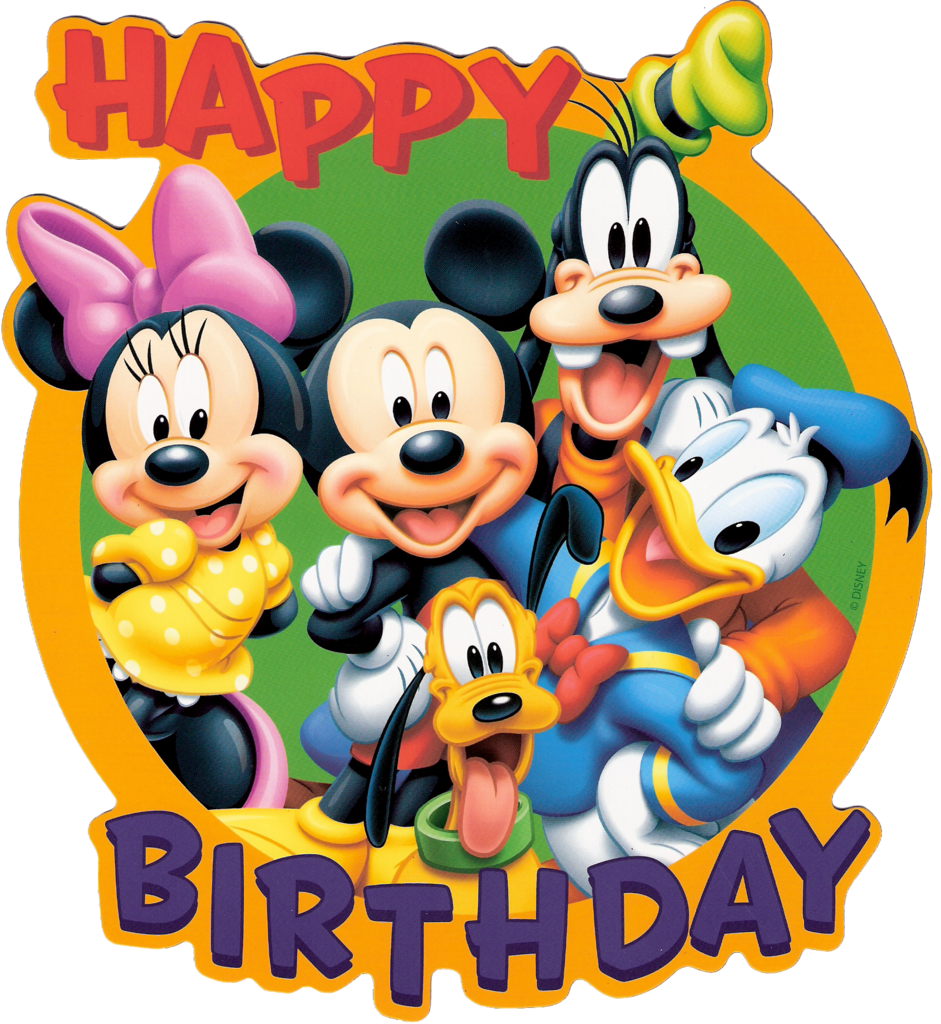 941x1024 Best Disney Birthday Clipart