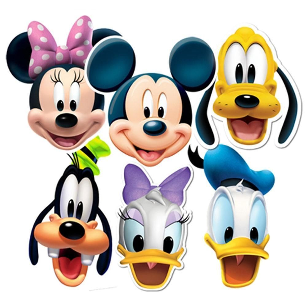 1000x1000 Mickey Mouse Clubhouse Characters Faces Clipart Panda