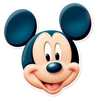 334x343 Mickey Mouse Face Clipart