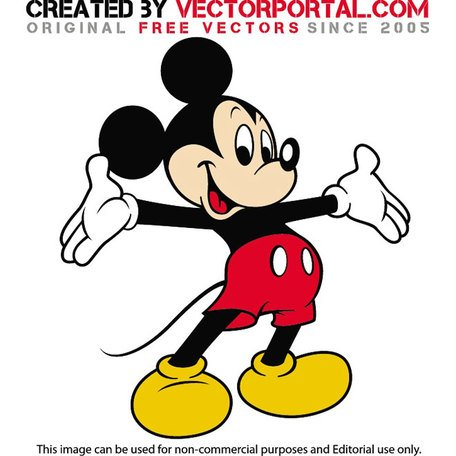 456x456 Mickey Mouse Clipart Vector