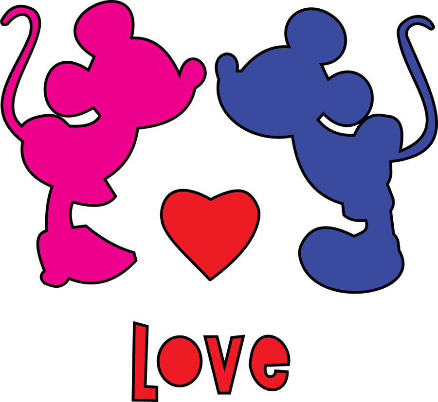 mickey and minnie mouse love pictures