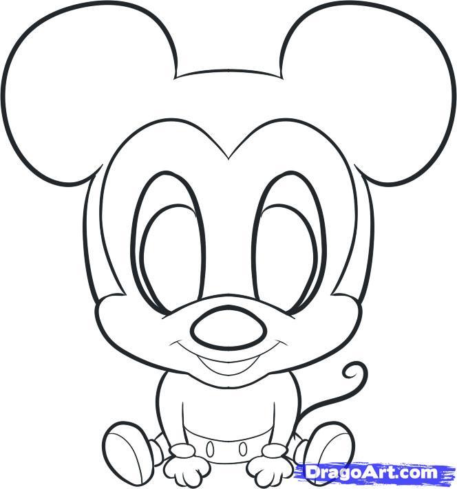664x711 Drawn Amd Mickey Mouse