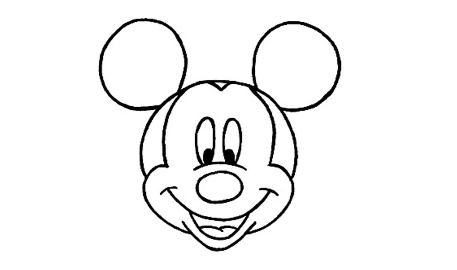 1500x886 How To Draw Mickey Mouse (Disney)