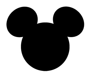 300x250 Mickey Mouse Ears Clipart